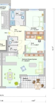 Wohnanlage in Oberlauter - Eigentumswohnung - Grudriss Wohnung 4+11