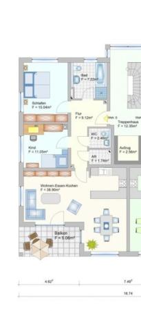 Wohnanlage in Oberlauter - Eigentumswohnung - Grudriss Wohnung 5+12