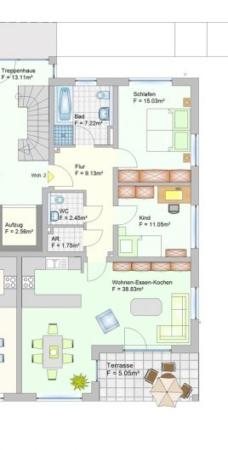 Wohnanlage in Oberlauter - Eigentumswohnung - Grudriss Wohnung 2+9