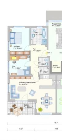 Wohnanlage in Oberlauter - Eigentumswohnung - Grudriss Wohnung 3+10