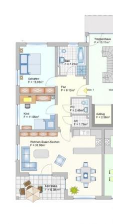 Wohnanlage in Oberlauter - Eigentumswohnung - Grudriss Wohnung 1+8