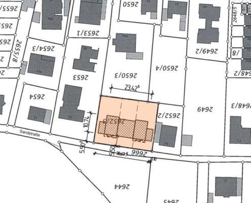 Reihenhäuser Sandstraße - Lageplan