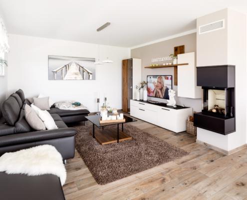 Schopf und Teig Musterhaus - Wohnzimmer