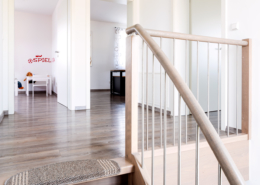 Schopf und Teig Musterhaus - Treppenaufgang
