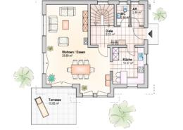 Haus Philipp Erdgeschoss Variante